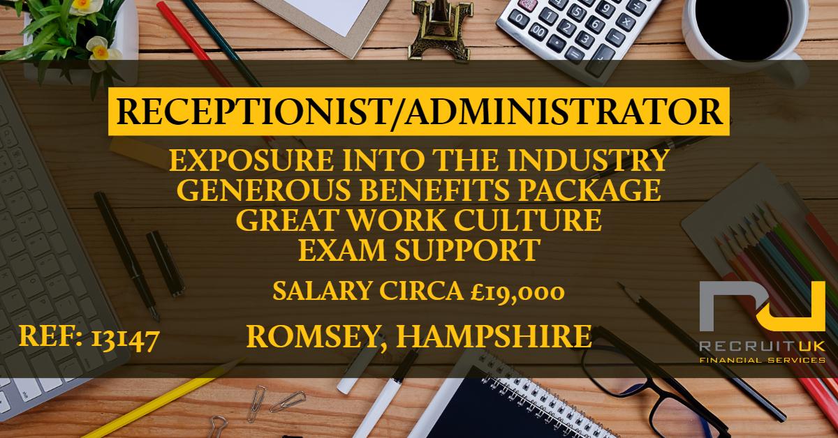 Receptionist/Administrator, Romsey, Hampshire