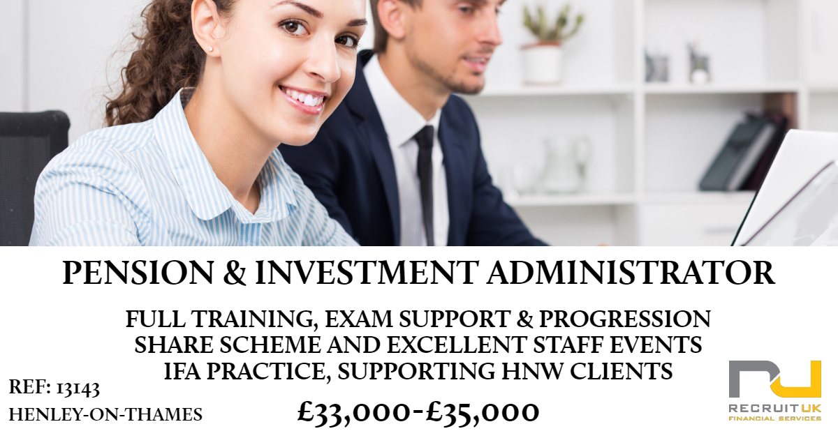 pensions and investment administrator, henley-on-thames