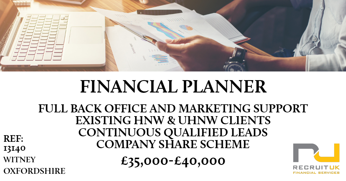 FINANCIAL PLANNER, WITNEY