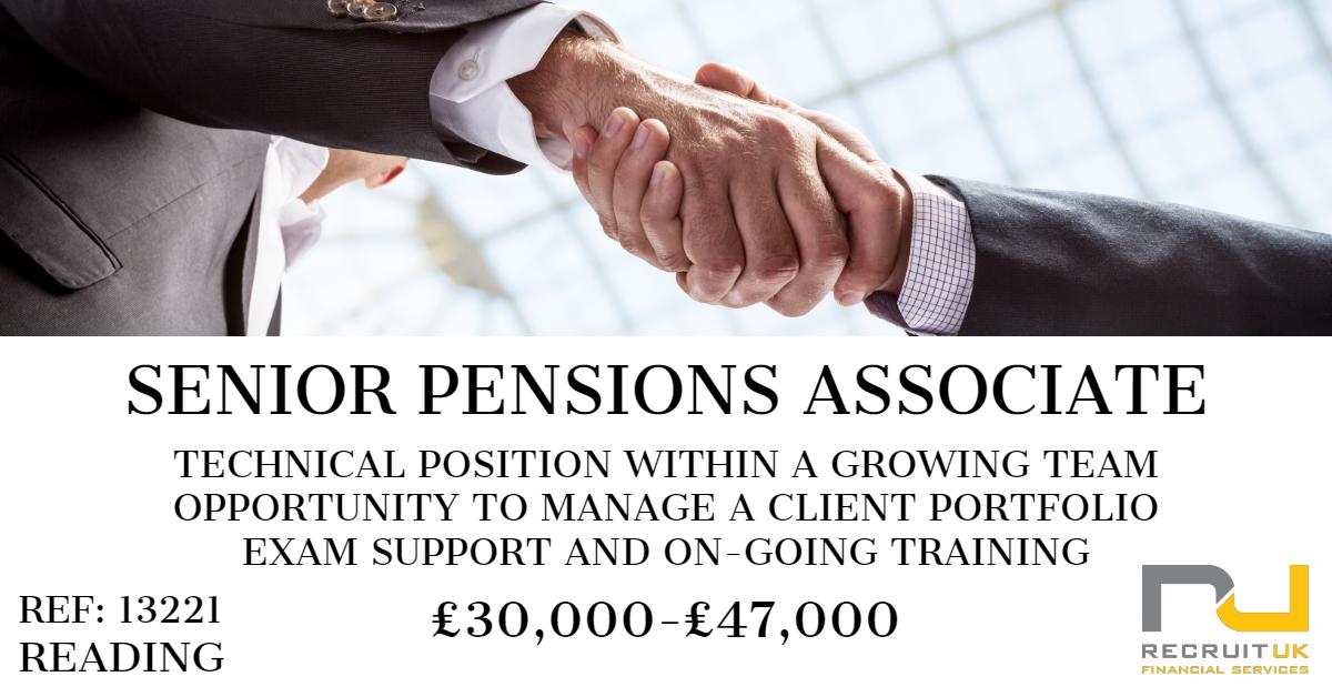Senior Pensions Associate, Reading
