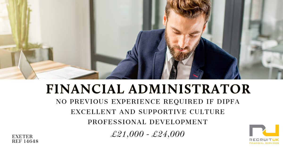 Financial Administrator, Exeter