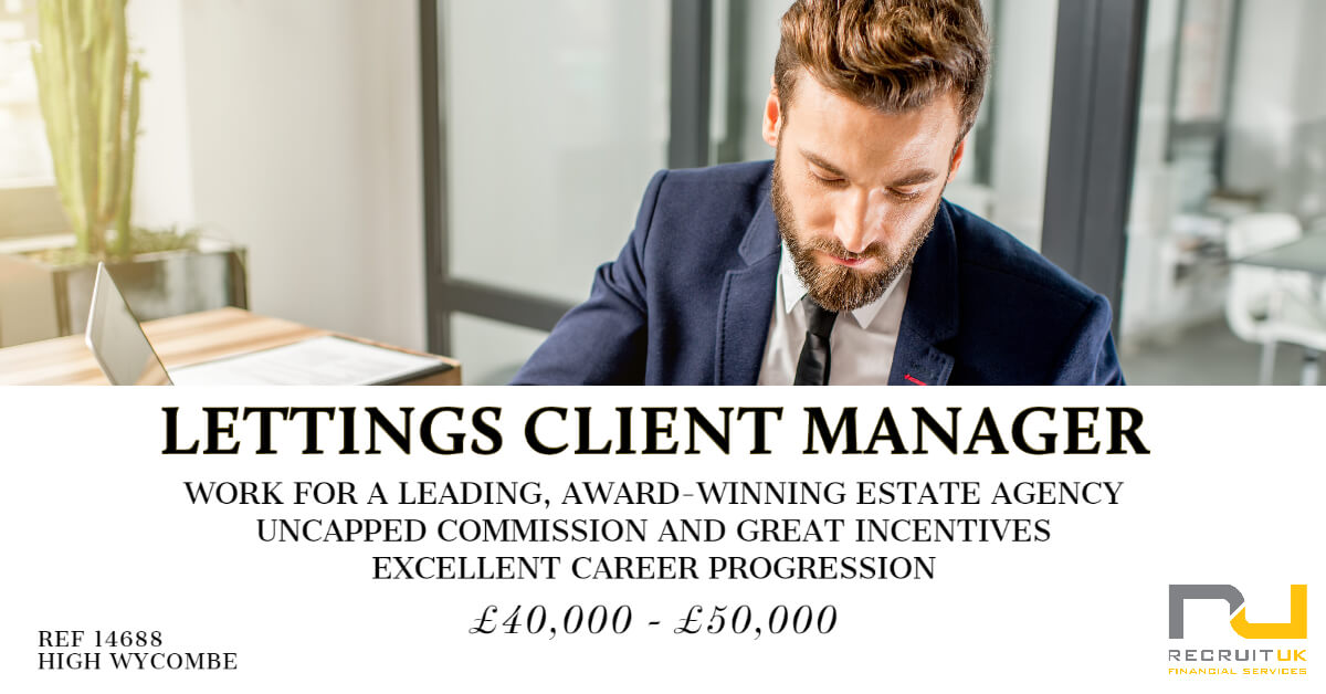 Lettings Client Manager, High Wycombe
