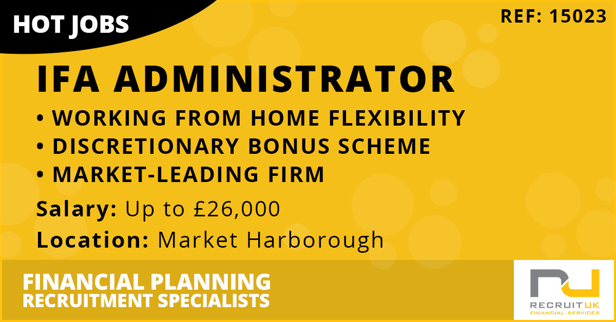 IFA Administrator, Market Harborough