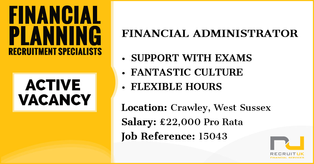 Financial Administrator, Crawley