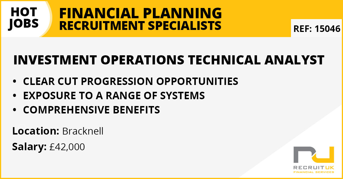 Investment Operations Technical Analyst, Bracknell