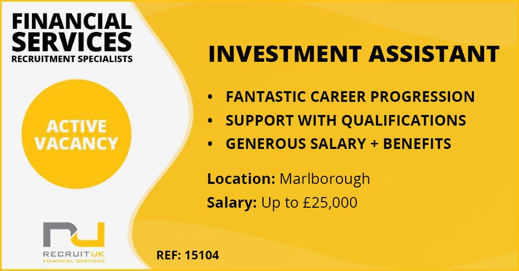 Investment Assistant, Marlborough